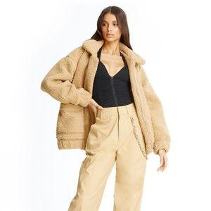 I.AM.GIA oversized caramel teddy coat